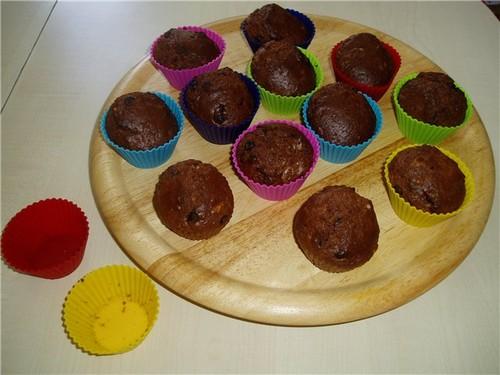 Кексы шоколадные с шоколадом в силиконовых формочках рецепты 146
