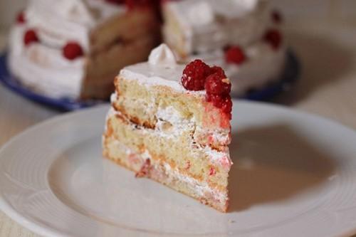 hindbærtærte med frosne bær